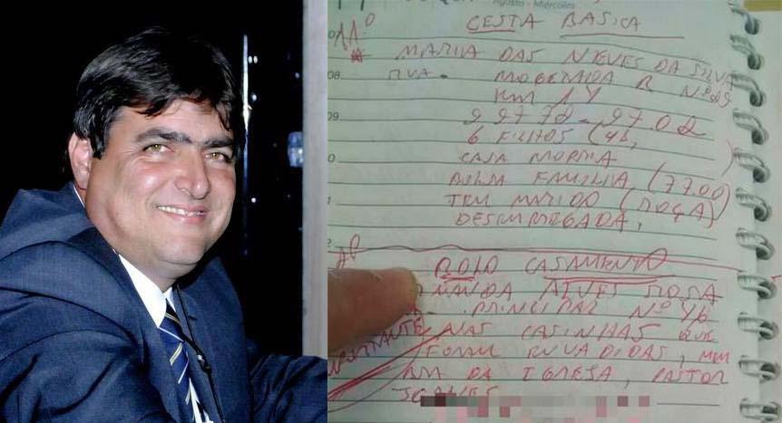 """Ozéias declarou à Justiça Eleitoral ter R$ 200 mil em espécie. Ele foi preso com lista de """"favores"""" e R$ 27 mil"""