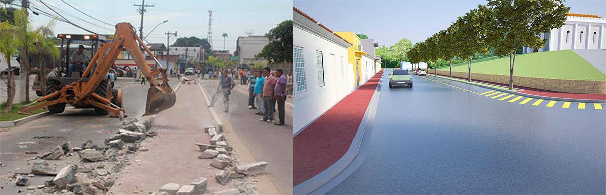 O prefeito Anderson Alexandre destruiu obra orçada em R$ 2,8 milhões e anunciou um projeto que ficou só nas maquetes